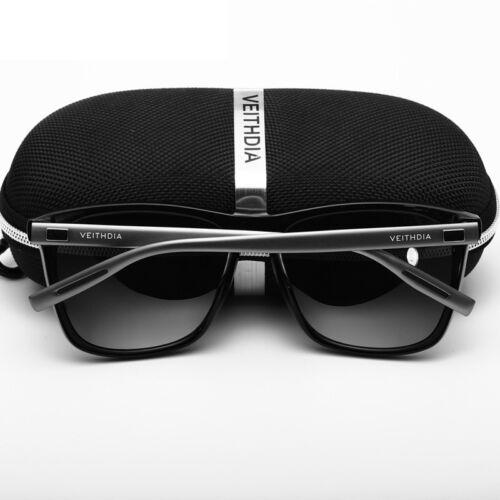 New Retro Sunglasses for Women Men Aluminum Mirror Lens Sport Outdoor with Case