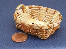 SCALA 1:12 Cesto di bambù singolo Casa delle Bambole Accessorio per la biancheria in miniatura (2287)