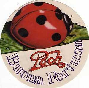 NO-CD-ADESIVO-POOH-BUONA-FORTUNA-ORIGINALE-D-039-EPOCA-20-6-1981-NUOVO
