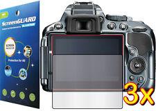 3x Clear LCD Screen Protector Film Camera Nikon Digital D-SLR D5300 D5500 D5600