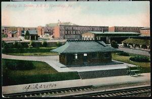 HARRISBURG-PA-Maclay-Street-PRR-Railroad-Depot-Station-Antique-Postcard-Old-Vtg
