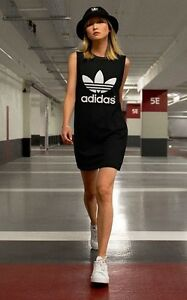 c69811491d240 NEW! adidas Originals Women s MESH TREFOIL TANK DRESS UK14 - US MED ...