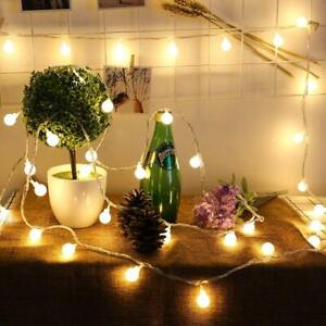 SERIE-LUCI-100-LED-LAMPADINE-FESTE-PARTY-DECORAZIONI-ADDOBBI-NATALE-BIANCO-CALDO