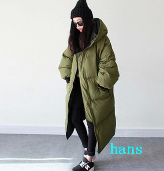 Womens Outwear Outwear Outwear Parka Hooded Loose Oversize Long Down Coat Leisure Winter Fashion e7d4ea