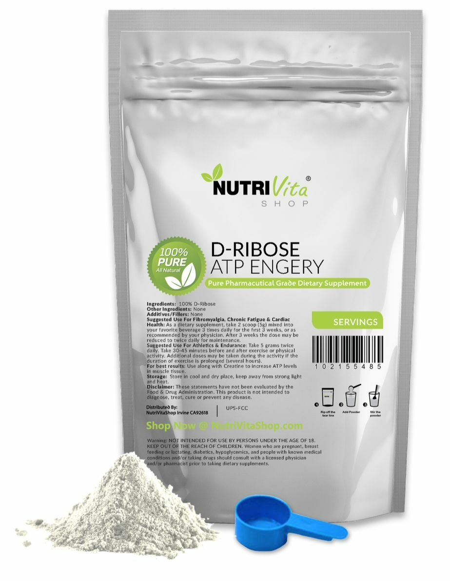 5.5 lb (2500g) NEW & 100% PURE D-RIBOSE POWDER -ENERGY & NEW ENDURANCE 01e644