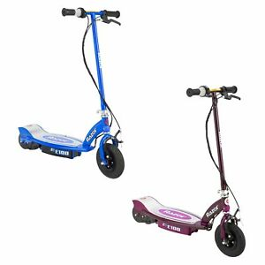 Razor-E100-Motorized-Rechargeable-Kids-Electric-Toy-Scooters-1-Purple-amp-1-Blue