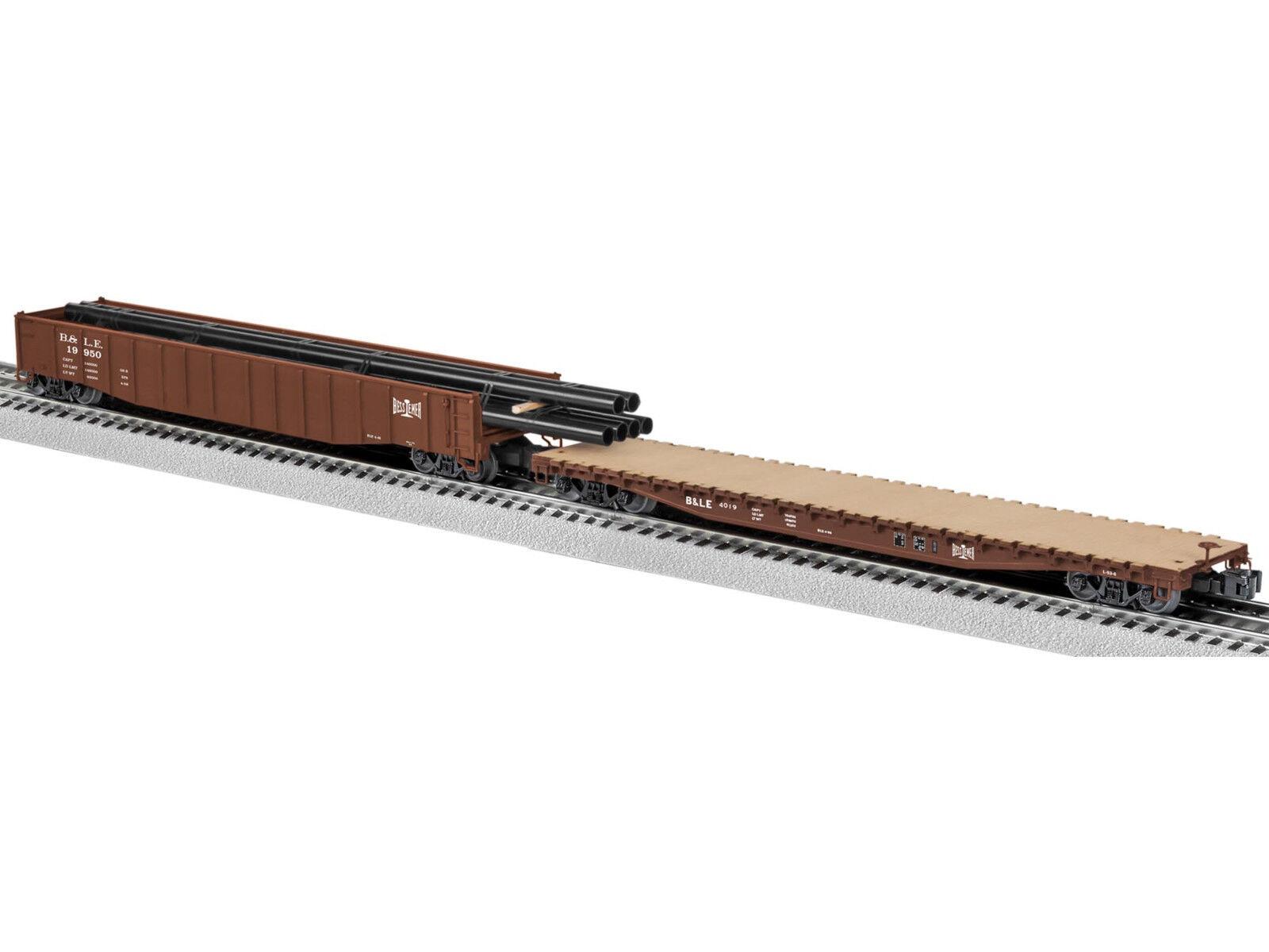 Lionel 6-82664 Bessemer & Lake Erie Scale PS-5 Gondola & PS-4 Flatcar Pair