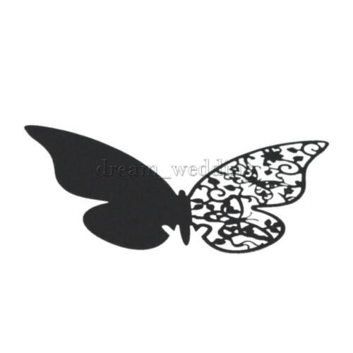 50x Schmetterlinge Platzkarten Tischkarten Namenskarten für DIY Hochzeit