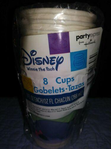 VINTAGE GOBLETS PAPER PARTY CUPS 8OZ NEW BEGINNINGS EEYORE WINNIE THE POOH