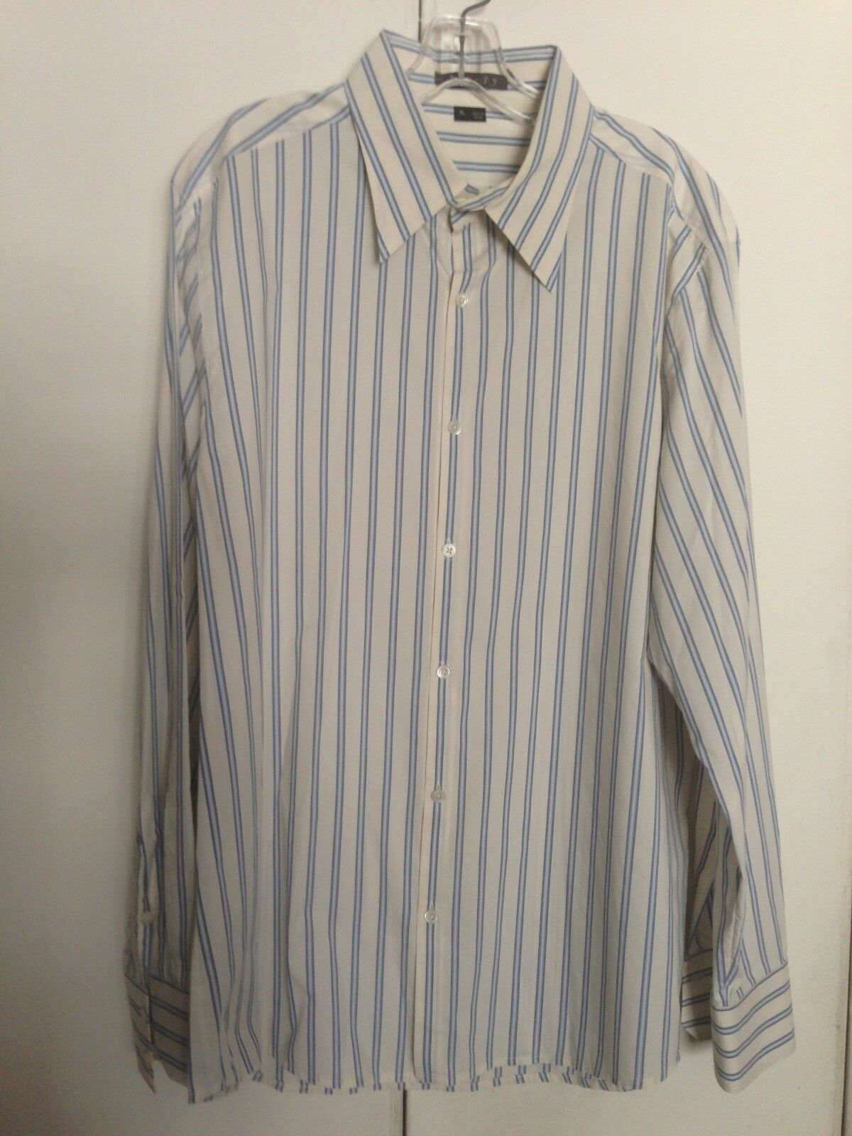 THEORY MENS KLAUS STRIPED BUTTON FRONT LONG SLEEVE SHIRT US SIZE XL