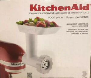Genuine KitchenAid FGA Food Grinder Attachment for Mixer NEW