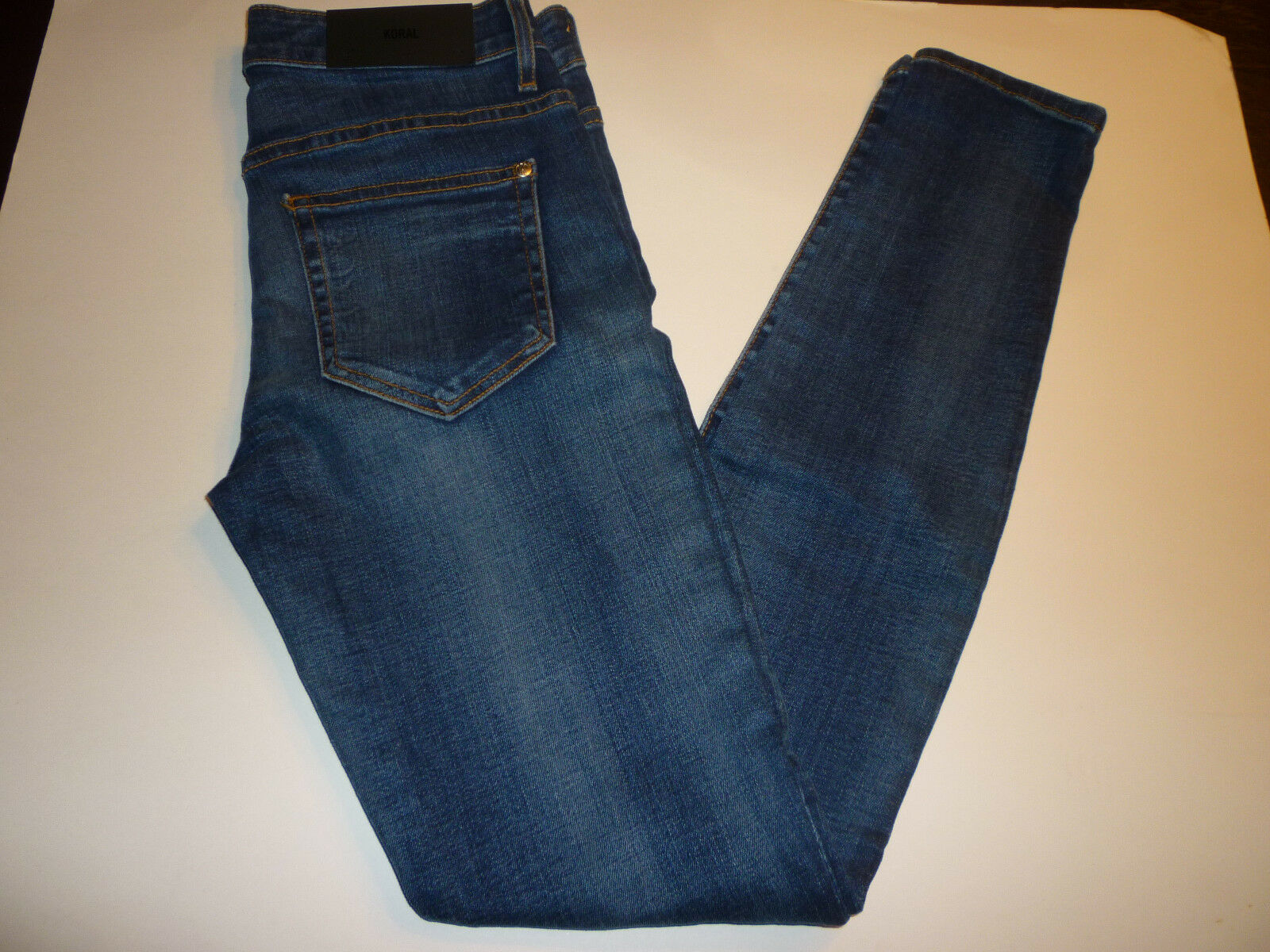 NWT  KORAL bluee Denim 8 Month High Rise Skinny Jeans, Size 28