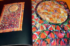 RARE-Traditional-JAPAN-QUILT-book-fabric-japanese-kimono-vintage-antique-0315