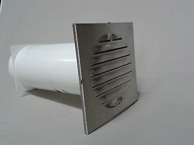 Mauerkasten Teleskopkanal-Lüfter mit Gitter eckig aus Aluminium