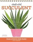 Illustrated Succulent Page-a-month Desk Easel Calendar 2016 by Zoe Ingram