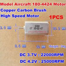 2 Pcs 180-4425 DC 4.2V 25000RPM Motor for Car High-speed ship model DIY