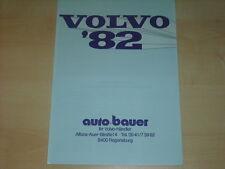 60161) Volvo 340 260 Turbo 260 245 246 Prospekt 1982