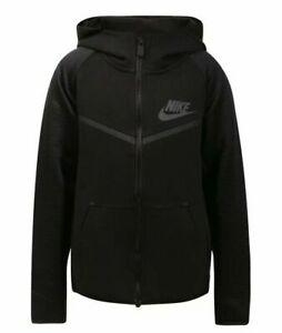 Nike Tech Pack Tech Fleece Full Zip Hoodie Boys Size 7  Black- 86D238 023
