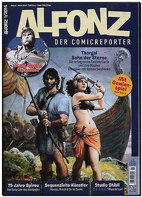 ALFONZ der Comicreporter 01 2014 Beilage FANTASY THORGAL scott SYNDER SPIROU