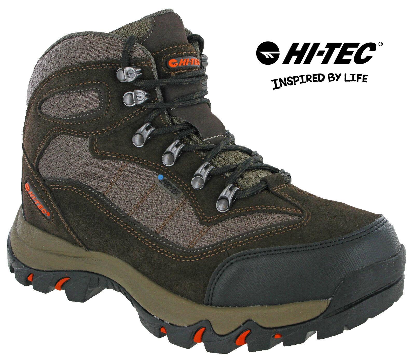 Hi-Tec Hiking Waterproof  Boots Skamania Mesh Walking Trail Lace Mens  best offer