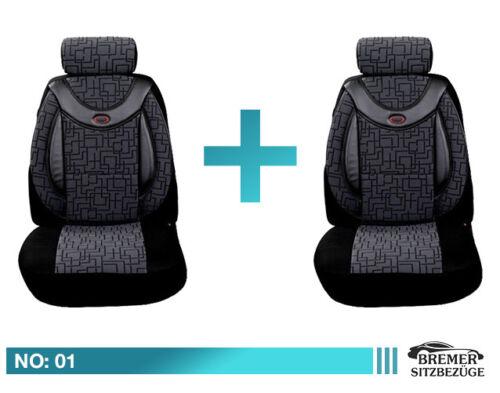 Fiat Tipo ab Bj 2015 Schonbezüge Sitzbezug Sitzbezüge Fahrer /& Beifahrer 01