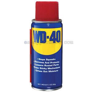 WD-40 Two-Ways Spray Lubricant Aerosol Can Portable - 3 oz Multi-Use AD-2015
