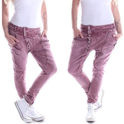 Da Donna boyfriend cavallo basso pantaloni lunghi cavallo basso Chino Jeans HAREMS hüftjeans Sweatpants Pantaloni Denim