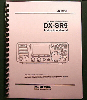 Card Stock Covers and 28 lb Paper! Alinco DX-SR8 Instruction Manual