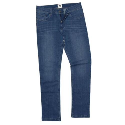 Pantaloni Uomo Jeans Stretch Gamba Dritta Regolare e Lungo