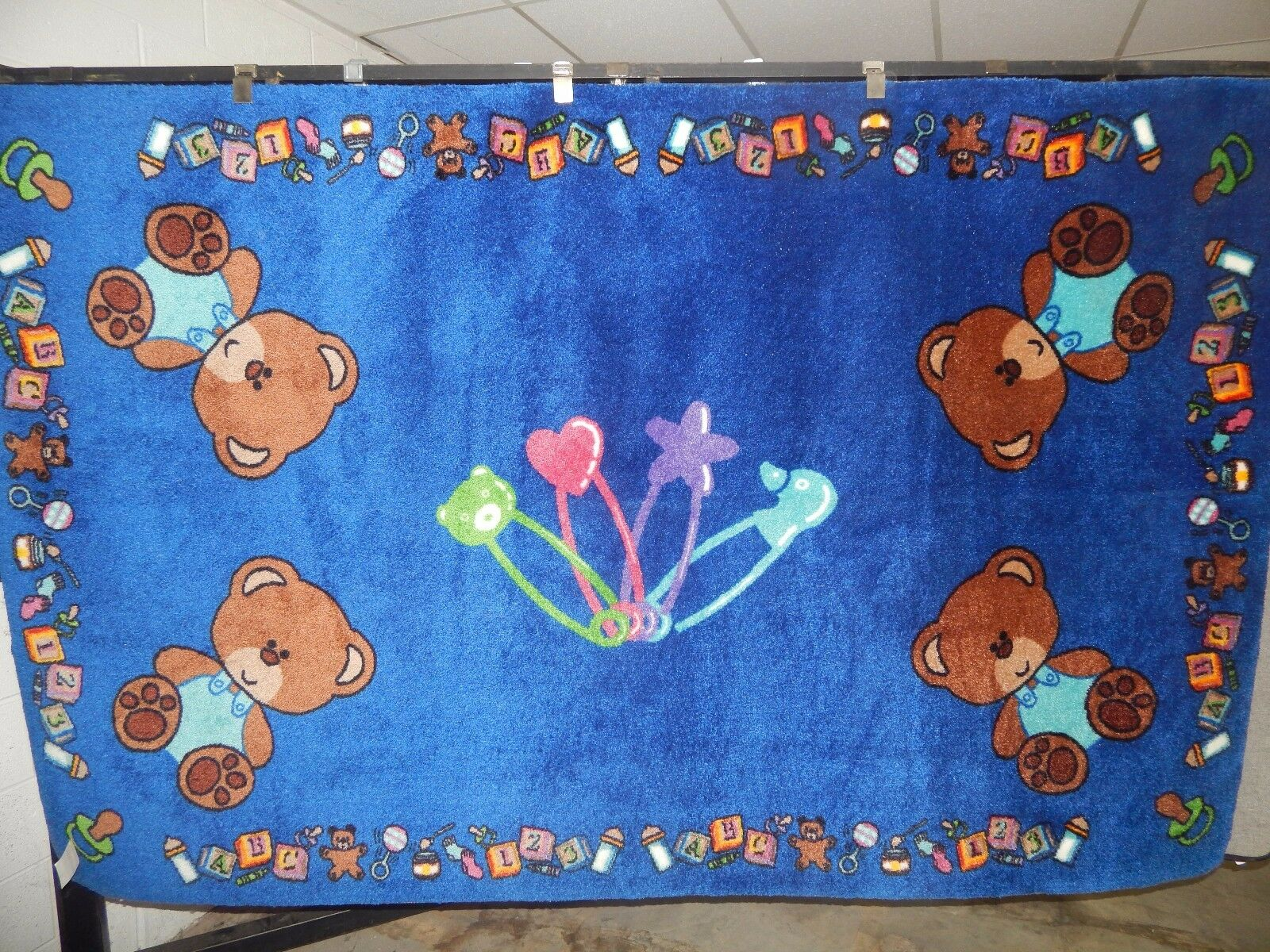 Educational Tapis pour les écoles-Day Care-Kids Room 8' X 12' bébé ours.