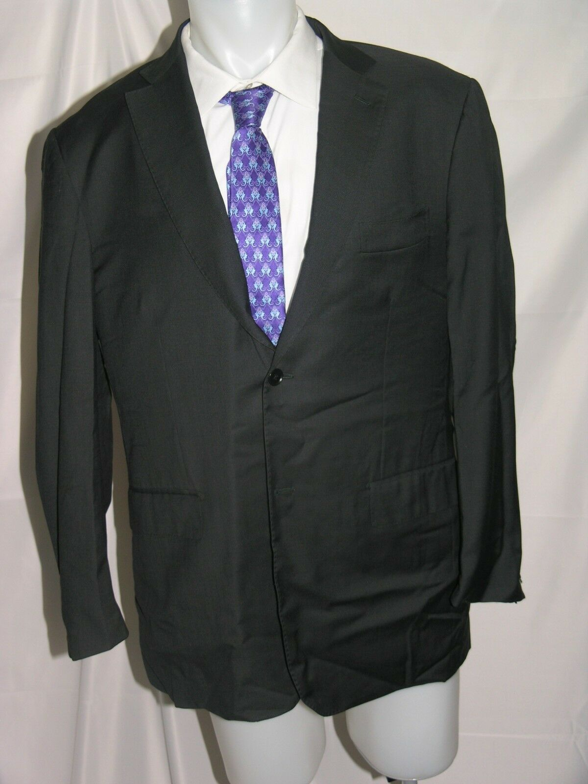 Isaia Base  S  Super 130 Two Button All Season Sport Coat 46 R