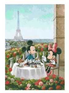 Paper version or PDF files. Cross Stitch Pattern Mickey Mouse Abstract