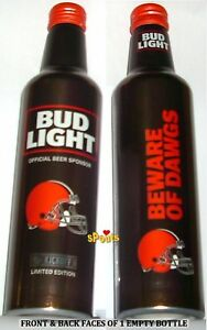 La Foto Se Está Cargando Cleveland Browns 2017 Bud Light  NFL Lanzamiento Botella