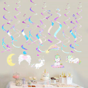 12Pcs-Unicorn-Swirl-Decor-Colorful-Unicorn-Foil-Hanging-Ceiling-Swirl-for-Party