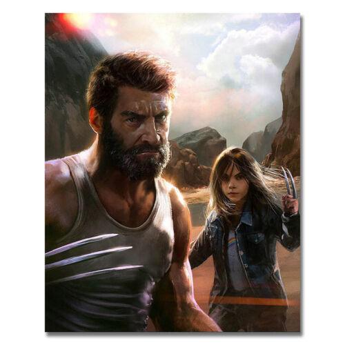 Logan Movie Silk Poster 13x16 16x20 inch Hugh Jackman Dafne Keen 005