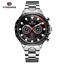 Automatik-Multifunktion-Herren-Uhr-Blau-Silber-Farben-Edelstahl-Armband-Uhren Indexbild 10