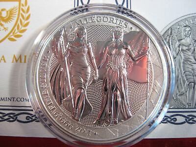 2019 Allegories Columbia /& Germania 1 oz Silver Sealed w// Cert LOW MINTAGE RARE