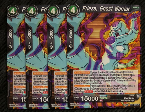 Ghost Warrior BT8-094 UC Dragon Ball Super TCG NEAR MINT 4x Frieza
