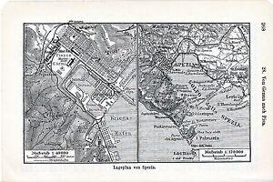 La-Spezia-1912-picc-piantina-citta-orig-Portovenere-Lerici-Palmaria-Marola