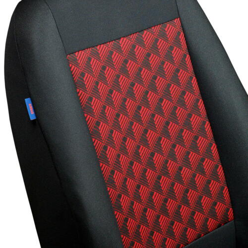 CAR SEAT COVERS FOR HONDA JAZZ FULL SET BLACK RED 3D EFFECT