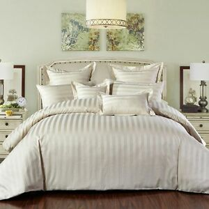 New-100-Premium-Cotton-500TC-Striped-Duvet-Quilt-Doona-Cover-Set-S-D-Q-K-SK