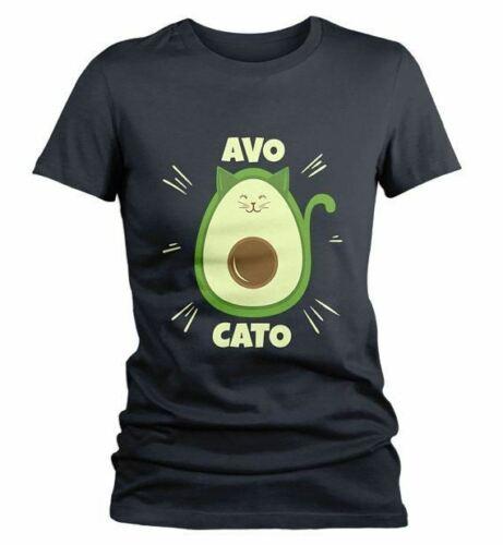 Women/'s Funny Cat T Shirt Avocato Shirt Avocado Graphic Tee Vegan Shirts Vegetar