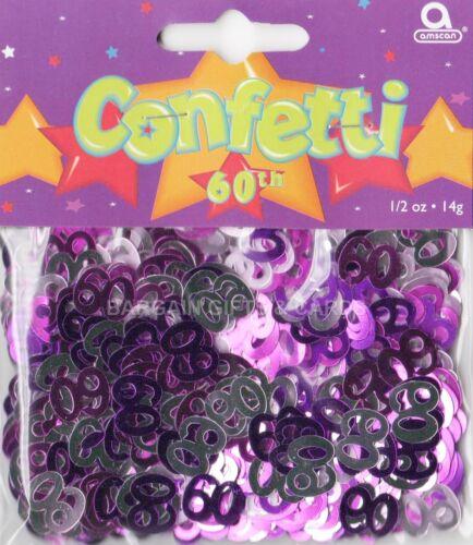 paillettes de table couleur rose décorations de table 6 Pack soixantième anniversaire confettis