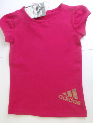 SHIRTS VARIOUS COLOURS /& SIZES A-10 GIRLS ADIDAS SHORT SLEEVE T