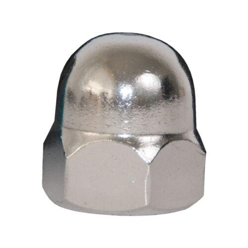je 5 Stück im Beutel Unterlegscheiben DIN 125 Edelstahl Hutmuttern DIN1587