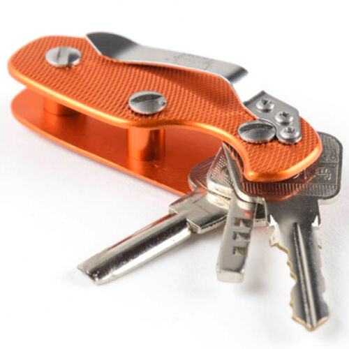 Aluminum Key Holder Organizer Clip Folder Keyring Keychain Case Pocket Tool WA