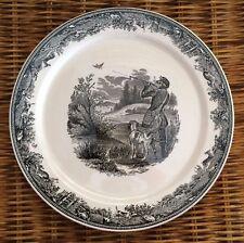 """1 - VILLEROY & BOCH """"Artemis"""" 9"""" Dinner Plate Duck Hunting Made in Germany SAAR"""