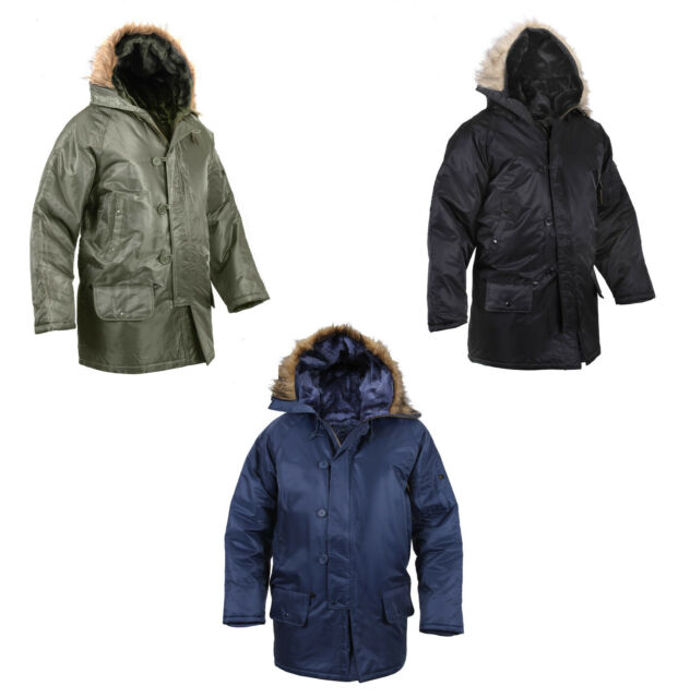 N-3B Look SNORKEL PARKA Army Navy Marine Corps USAF USMC Winter Snow Jacket Coat