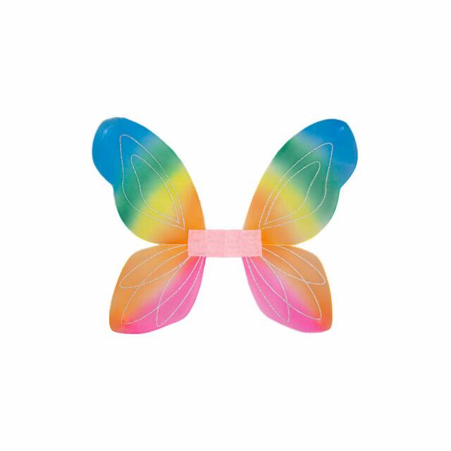 Rainbow Colour Unicorn Wings Tutu Wand Accessories Kids Childs Fancy Dress