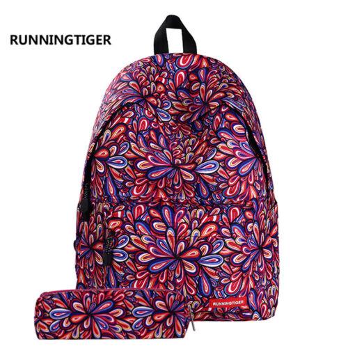 """16"""" Fashion Women Girl Children Backpack Pencil Case Set Rucksack Shoulder Bag"""